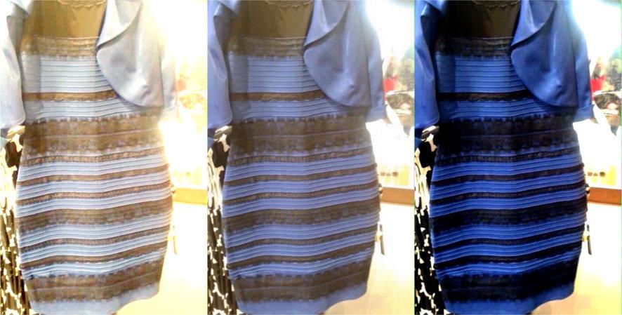 blue black dress